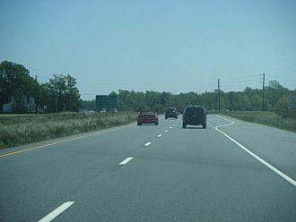 Delaware Route 1 - Southbound DE 1 approaching Prime Hook Road near Milton