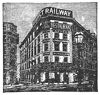 Mansion House tube station - Mansion House station depicted in 1888