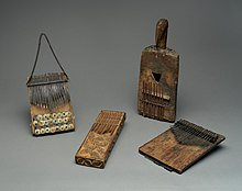 Four late-19th-century wooden musical instruments