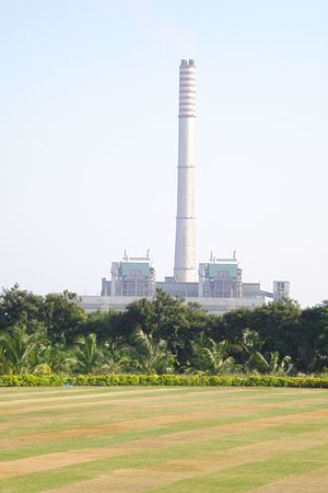 Electricity sector in India - A thermal power plant in Maharashtra