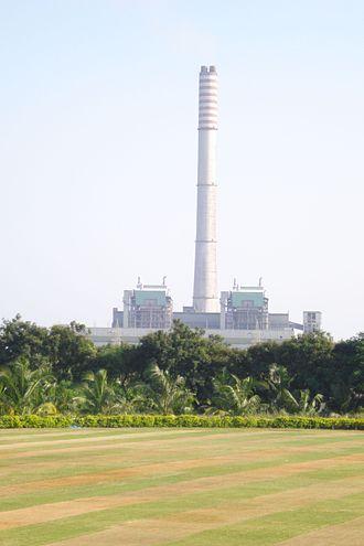 Dahanu - A view of Dahanu Thermal Power Station, Adani electricity