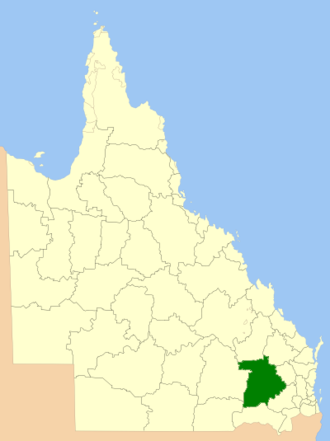 Western Downs Region - Location within Queensland