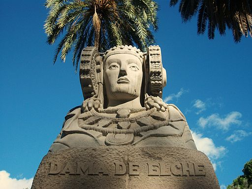 Dama d'Elx als jardins de Vivers de València
