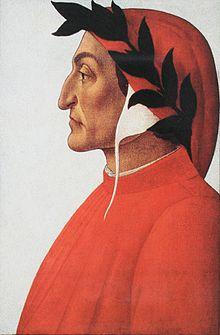 Porträt des Dante Alighieri, Sandro Botticelli, um 1495 (Quelle: Wikimedia)