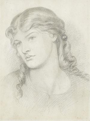 Alexa Wilding - Alexa Wilding, by Dante Gabriel Rossetti, 1865