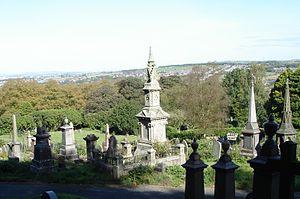 Darwen Cemetery - Darwen Cemetery looking north