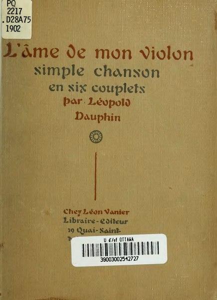 File:Dauphin - L'Âme de mon violon, 1902.djvu