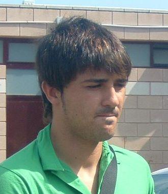 David Villa - Villa in the Ciutat Esportiva de Paterna, 2005.