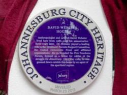 Photo of David Webster blue plaque