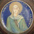 David Zipiroc, piatto con Santa Chiara (da Simone Martini).jpg