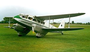 Allied Airways - ex-RAF de Havilland Dragon Rapide G-AIDL, seen here at Coventry Airport in 1997, was in Allied Airways' fleet in the late 1940s