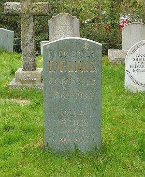 Jelka Rosen - Image: Delius grave