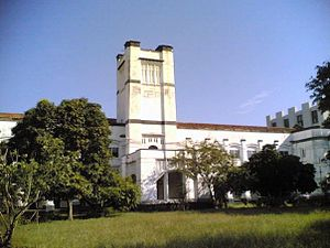 University of Colombo - Iconic old Royal College Building, now home to the Department of Mathematics with the university tower