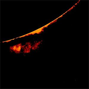 Solar prominence - Image: Detached sola prominence