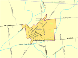 Detailed map of Belle Center