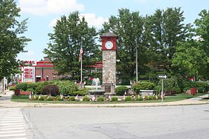 Hellertown, Pennsylvania - Detwiller Plaza in downtown Hellertown