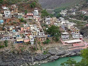Raghunathji Temple, Devprayag - Image of the temple on the hill