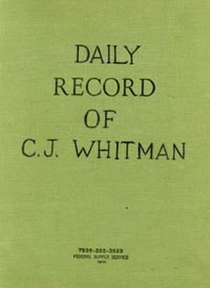 Charles Whitman - Whitman's journal