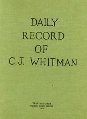 Charles Whitman - Whitman's journal