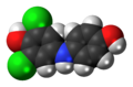 Dichlorophenolindophenol (reduced) 3D spacefill.png