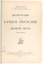 Dictionnaire de la langue française du seizième siècle