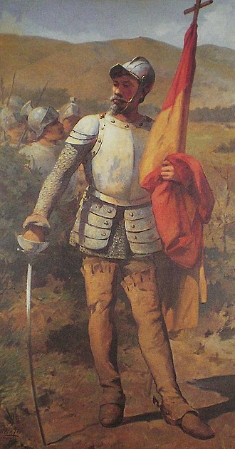 Caracas - Conqueror Diego de Losada, founder of Santiago de León de Caracas (painted early 20th century )