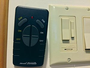 Wireless light switch - Image: Dimmer switch with RF based lighting control