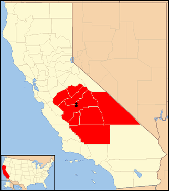 Roman Catholic Diocese of Fresno - Image: Diocese of Fresno map 1