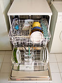 Dishwasher open for loading