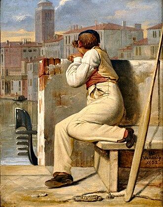 Ditlev Blunck - Image: Ditlev Blunck En gondoliere (1832)