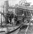 Divers at work on the wreck of the USS Maine - Havana Harbor Cuba - 1898.jpg
