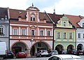 Domažlice, die Häuser Hauptplatz 58 und 59.JPG