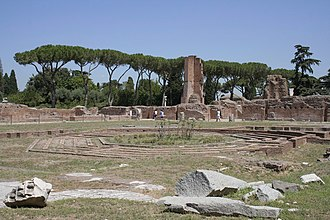 Flavian Palace - Peristyle with octagonal island