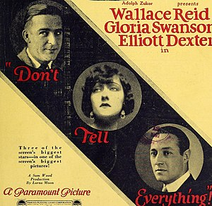 Don't Tell Everything - Film advertisement