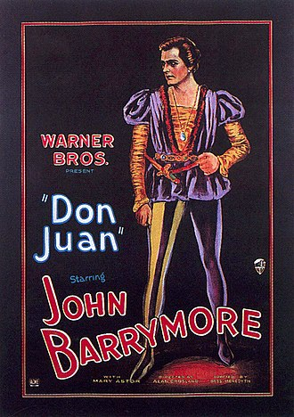 Poster for Warner Bros.' Don Juan (1926), the first major motion picture to premiere with a full-length synchronized soundtrack. Audio recording engineer George Groves, the first in Hollywood to hold the job, would supervise sound on Woodstock, 44 years later. DonJuanPoster2.jpg