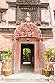 Door and Wooden Tympanum at Entrance of Kumari House- Basantapur, Kathmandu Nepal-0118.jpg
