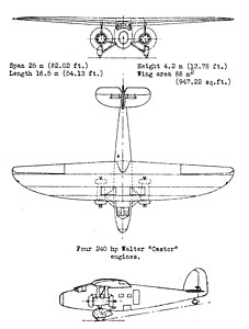 Dornier Do K3 3-view NACA aircraft Circular No.155.jpg