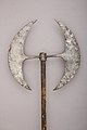 Double-bladed Processional Axe MET 36.25.1844 004jan2015.jpg