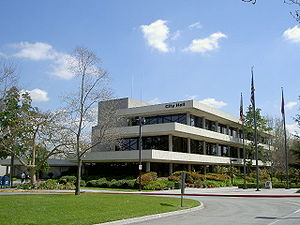 Downey, California - The Downey City Hall in 2006