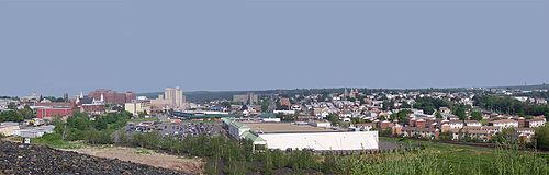 Hazleton, the second largest city in Luzerne County Downtown hazleton pa.jpg