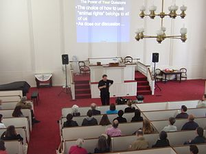 Paul Waldau - Image: Dr. Paul Waldau discussing his latest book in Sherborn, MA