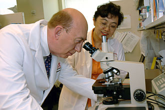 John E. Niederhuber - Dr. Niederhuber at work.