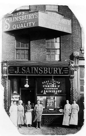 Sainsbury's - Sainsbury's first store in Drury Lane c. 1919
