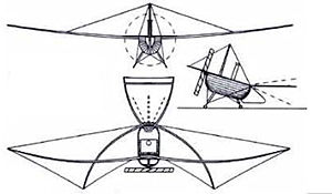 Du Temple Monoplane - Patent drawing of the Monoplane, 1874.