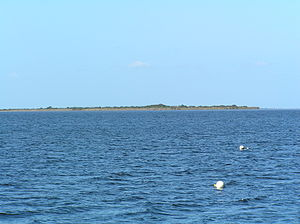 Duck Island (Victoria) - View of Duck Island from Swan Bay Jetty