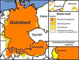 ... taalgebied: De verspreiding van het Duits in West- en Midden-Europa: nl.wikipedia.org/wiki/talen_in_zwitserland