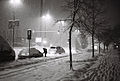 Dunajska cesta (Bežigrad) - ob sneženju ponoči.jpg