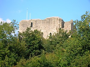 Dundonald, South Ayrshire - Dundonald Castle from the Old Bank woods.
