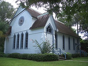 National Register of Historic Places listings in Pinellas County, Florida - Image: Dunedin Andr Mem Chapel 01