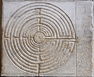 Lucca Cathedral - Labyrinth on the portico of the cathedral